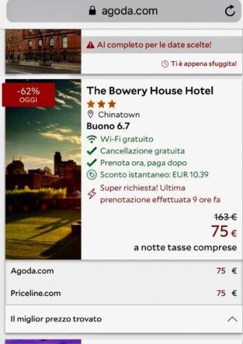 hotel low cost stati uniti esempio di prenotazione