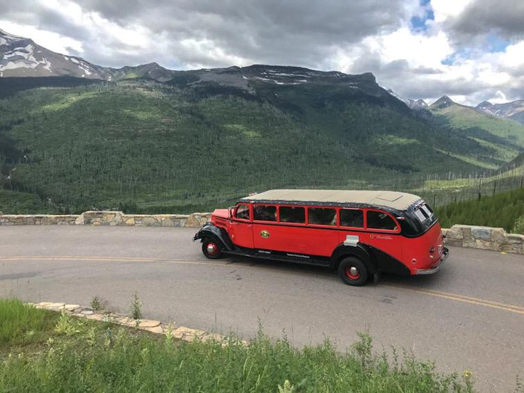 red bus glacier national park montana