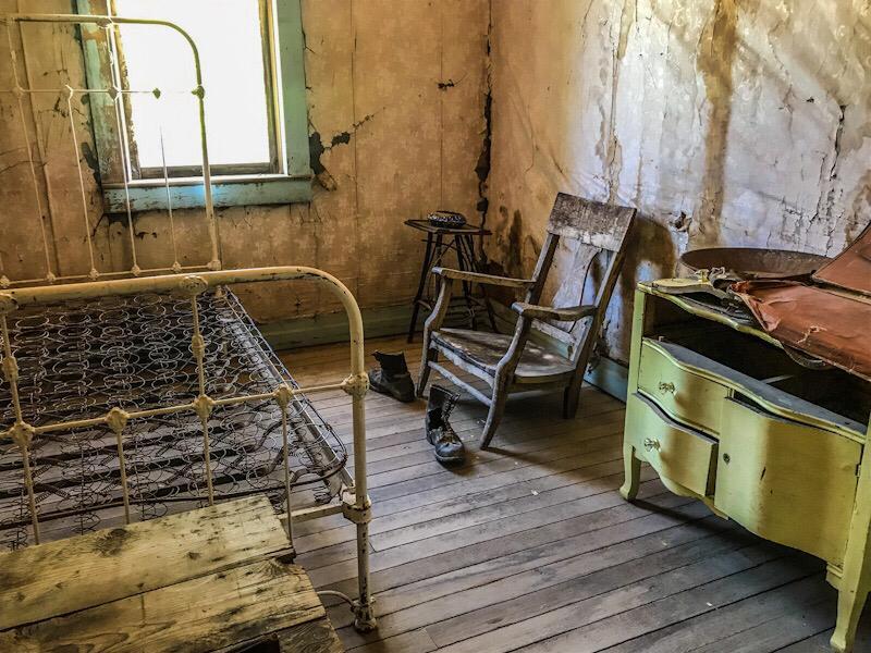 ghost town del montana, garnet, Usa