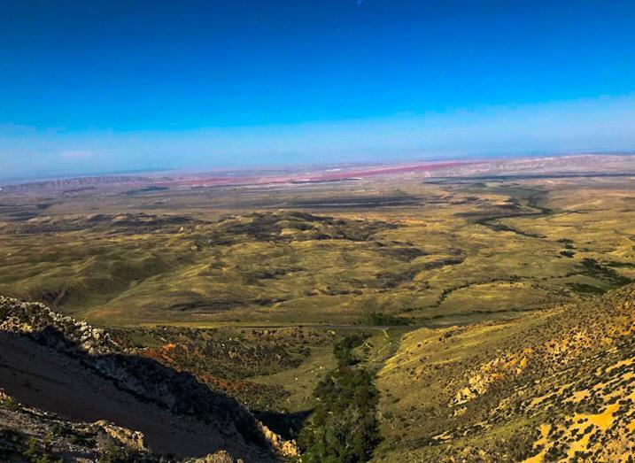 strade panoramiche americane bacino del bighorn wyoming