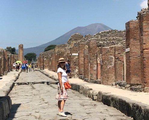 antica strada sito archeologico di pompei
