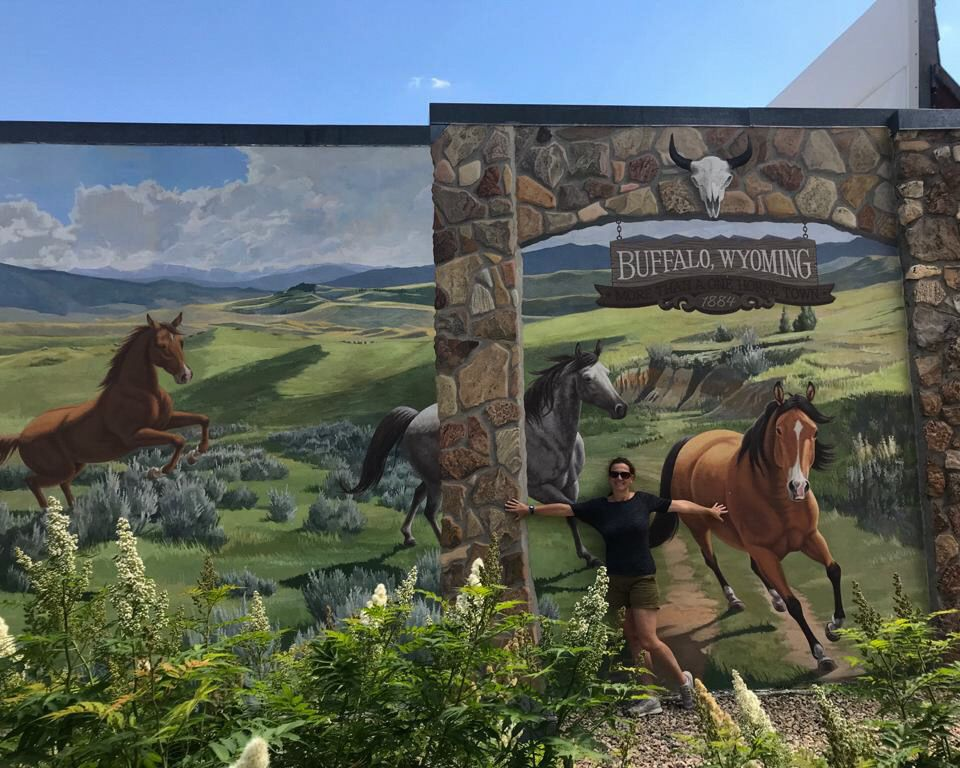 buffalo wyoming murals in crazy woman square