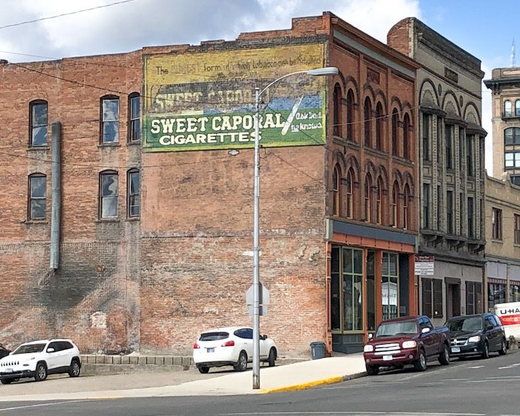 ghost signs sweet caporal cigarette butte montana